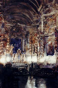 Paul Dmoch - l'Église de Saint-Bernardin de Sienne à Cracovie 91 x 60