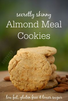Gluten Free Skinny Almond Meal Cookies Recipe - Soft and Fluffy Almond ...