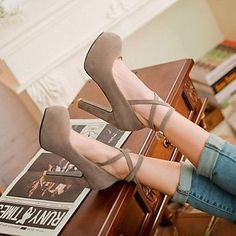 Women's Shoes Round Toe Chunky Heel Pumps Shoes More Colors Available – GBP £ 17.19