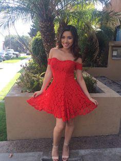 Knit Dress- Red