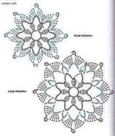 Un bel top per giornate calde Mandala Au Crochet, Crochet Snowflake Pattern, Crochet Edging Patterns, Crochet Circles, Crochet Motifs, Crochet Snowflakes, Crochet Diagram, Crochet Chart, Crochet Squares