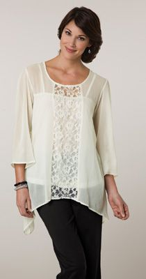 Sheer Tunic Top w/ Lace Panel & Tank--I also like this...