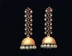 Different Types Of Earrings To Wear Gold Jhumka Earrings, Indian Jewelry Earrings, Silver Jewelry Box, Silver Drop Earrings, India Jewelry, Jewelry Rings, Jewelery, Silver Ring, Dainty Jewelry