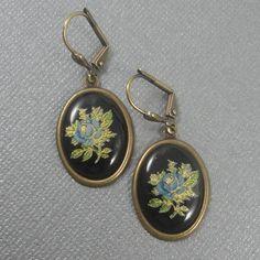 Victorian Jewelry  Cameo Earrings  Cameo Jewelry  Porcelain