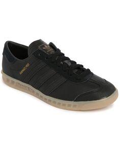 Adidas Originals | Black Hamburg Suede Sneakers for Men | Lyst