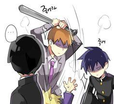 Mob Psycho 100 [モブサイコ100] #manga #anime Shigeo, Ritsu, Reigen, and Teruki (Teru) 4/4 by モヒ