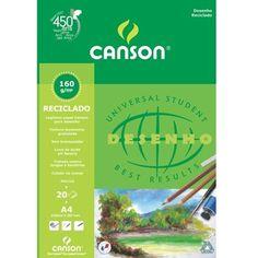 Papel Para Desenho Reciclado Canson é fabricado na França com fibras de madeira 100% recicladas. O papel para desenho reciclado Canson possui PH neutro e brancura natural.  http://www.artcamargo.com.br/papeis/papeis-para-desenho/papel-para-desenho-blocos/papel-para-desenho-reciclado-canson-a4-160g.html