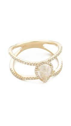 Luna Skye Double Band Moonstone Teardrop Ring