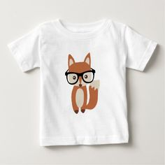 Hipster Baby Fox w/Glasses