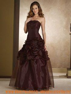 Ballkleid Taft Organza Plissiertes günstiges Abendkleid