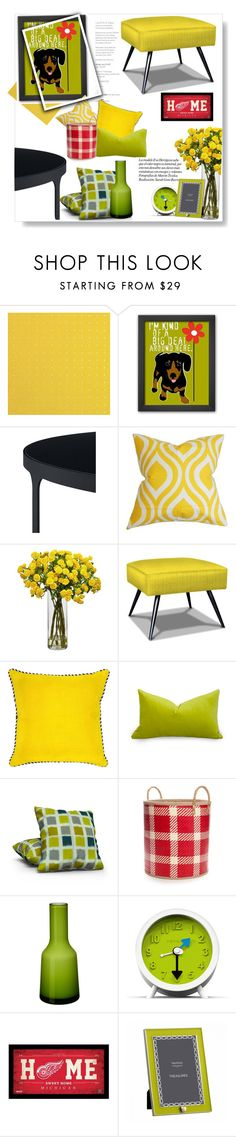 """""""Dog in my living room..."""" by gul07 ❤ liked on Polyvore featuring interior, interiors, interior design, home, home decor, interior decorating, The Pillow Collection, Nearly Natural, Jonathan Adler and Villa Home Collection"""
