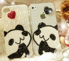 iPhone 5 case - iPhone 4 Case - Cute iphone 4 case panda - iphone 5 bling case - Best iphone 4 case crystal cases - Pearl iphone 4/5 case