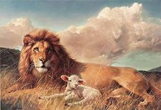 lion artwork | lion-and-the-lamb-art