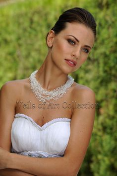 Swarovski Crystals and Beads Bridal Necklace by by VeilsofArt, $69.00