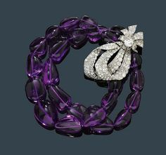 Cartier Amethyst, Diamond Bracelet circa 1960