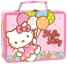 Amscan Hello Kitty Balloon Dreams 6 x 758 x 234 Metal Box with Handle *** Want additional info? Click on the image.