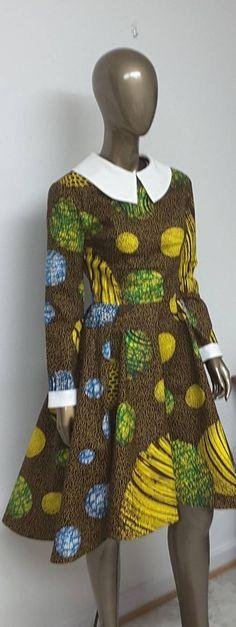 AYAWAX Collection. African Print Fitted Waist Hi-Lo Dress. Ankara, Dutch wax, Kente, Kitenge, Dashiki, African print bomber jacket, African fashion, African clothing, African prints, Nigerian style, Ghanaian fashion, Senegal fashion, Kenya fashion, Nigerian fashion (affiliate) #etsy #kitenge #ankara