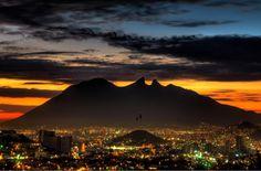 Sunset in Monterrey, Nuevo Leon, Mexico.. Visit us on Facebook: https://www.facebook.com/groups/imagesfromallovertheworld