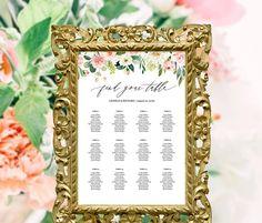 printable wedding seating chart template alphabetical by table floral wedding table seating chart template bridal shower seating chart