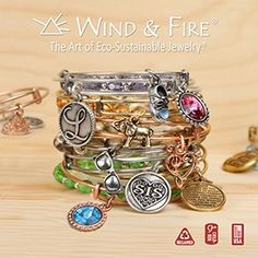 Wind & Fire Jewelry.  Wind & Fire Jewelry elevates the art of eco-sustainable jewelry to new heights. Made in the USA from recycled brass, our jewelry collections are finished with antique gold or antique silver.