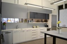 Keywords: Back Painted Glass, ChromaCoat, DIRTT GLC, Event, GLC, Green Learning Centre Showroom, Java Centre, Mirror, Powder Coat, PowderCoat, Power/Data, Toronto, face mount walls, green Learning Center, kitchen, merged tiles, Millwork, solid walls, thermofoil ID 9607