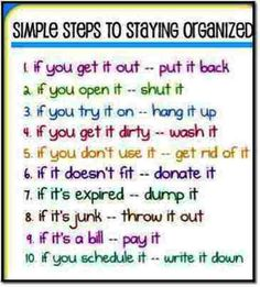 10 simple tips for decluttering your home & your life.