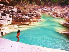 Amazing colours at the paradise valley fresh water pools.   www.SurfBerbere.com
