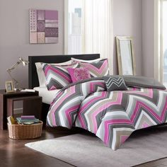 Have to have it. Intelligent Design Jada Chevron Comforter Set - $59.99 @hayneedle