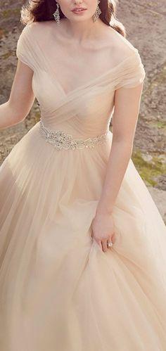 Charming Sweep Train Wedding Dress,Off the Shoulder Wedding Ball Gowns,Bride Dress – Wedding Gown Tulle Wedding Gown, Wedding Dress Train, Bridal Gowns, Beige Wedding Dress, Wedding Ceremony, Wedding Tips, Tulle Gown, Modest Wedding, Color Wedding Dresses