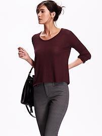 Lightweight Sweater-Knit Tee