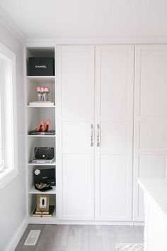 Ikea Pax Wardrobe Hack to create your dream closet! Ikea Pax Wardrobe Hack to create your dream closet! The post Ikea Pax Wardrobe Hack to create your dream closet! appeared first on Kleiderschrank ideen. Closet Walk-in, Ikea Pax Closet, Closet Hacks, Build A Closet, Ikea Pax Doors, Closet Ideas, Closet Organization, Closet Shelves, Ikea Built In Wardrobes