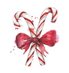 Candy Cane With Bow Tie Watercolor Painting Isolated On White Stock Illustration – Illustration of background, candy: 89105006 – Candy Cane Painted Christmas Cards, Watercolor Christmas Cards, Christmas Drawing, Christmas Paintings, Noel Christmas, Christmas Greeting Cards, Christmas Greetings, Christmas Crafts, White Christmas