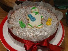 Bolo de Maçã e Especiarias  - Decorado para o Natal