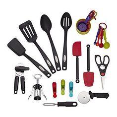 Cooking Utensils 20649: Kitchen Gadget Tool Set 22 Piece Kitchenaid Cooking  Utensils Home Chef Gift