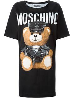 MOSCHINO Teddy Bear Print T-Shirt Dress. #moschino #cloth #dress