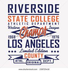 Sport athletic California typography, t- shirt graphics, vectors