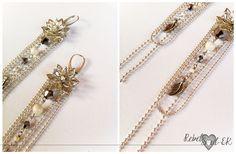 RebelSoulEK earrings stering silver hooks silver beige white wedding jewelry flower motives