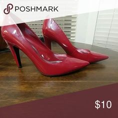 Red Heels Pointed toe, solid red heels ( worn twice ) Mossimo Supply Co Shoes Heels