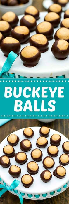 Buckeye Balls - chocolate and peanut butter heaven!