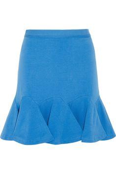 Carven|Flared stretch-cotton mini skirt
