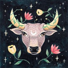 The year of the Ox. Chinese New Year   Etsy Chinese New Year, Ox, Watercolor Paper, Moose Art, Painting, Animals, Etsy, Chinese New Years, Animales