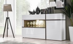 SB Chandler - contemporary white sideboard for your home. Cheap Black Dresser, Tall White Dresser, White Sideboard, Dining Room Sideboard, Sideboard Furniture, Modern Chest Of Drawers, Modern Dresser, Side Board, Commode Design