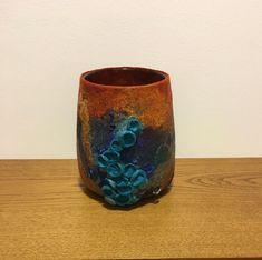 Felted Vessel,  Shibori Vase, Decor Vessel, Stylish Vase, Art Vase, Textile Art Yellow Vase, Shibori, Tall Vases, Nuno Felting, Blue Lagoon, Vases Decor, Home Decor Accessories, Textile Art, Making Out