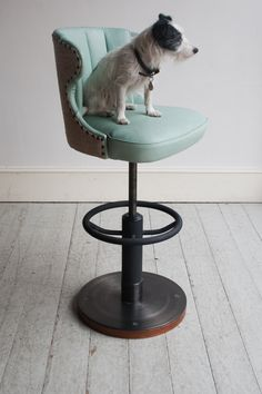 The Captain's was our first bar stool. Beautifully hand-made, comfortable and virtually indestructible. Engineered with a steel and solid ash base, it is sold into both commercial and domestic interiors. The fluted, wrap-around bucket seat is fitted with a return spring and can be upholstered in 36 Bourne Street's tough, traditionally tanned goatskins, or your...