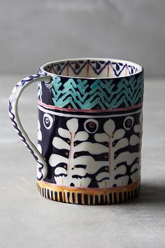 Anthropologie Painted Isla Mug