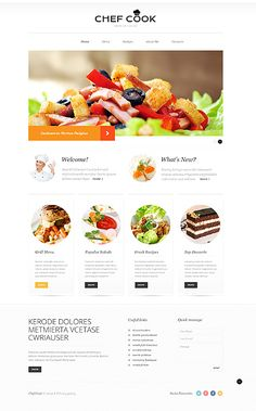 Template 50904 - Cooking Responsive Website Template