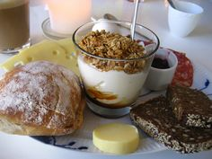 Perfect Danish Breakfast-I love the cheeses and the breads, but I'm not much for yogurt.