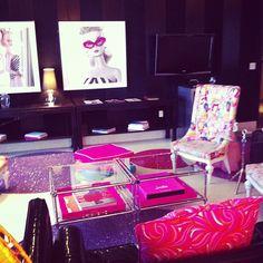 Barbie Suite in Las Vegas. GLITTER RUGS!!
