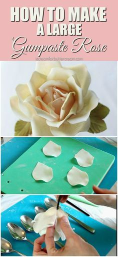How to Make a Large Gumpaste Rose 1