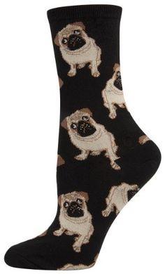 Socksmith Pug Dog Women's Novelty Sock, Black, http://www.amazon.com/dp/B00IUUENE6/ref=cm_sw_r_pi_awdm_4WcFub1GRNWSS